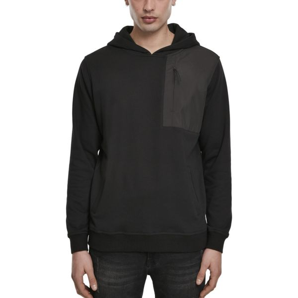Urban Classics - Military Shoulder Pocket Hoodie schwarz