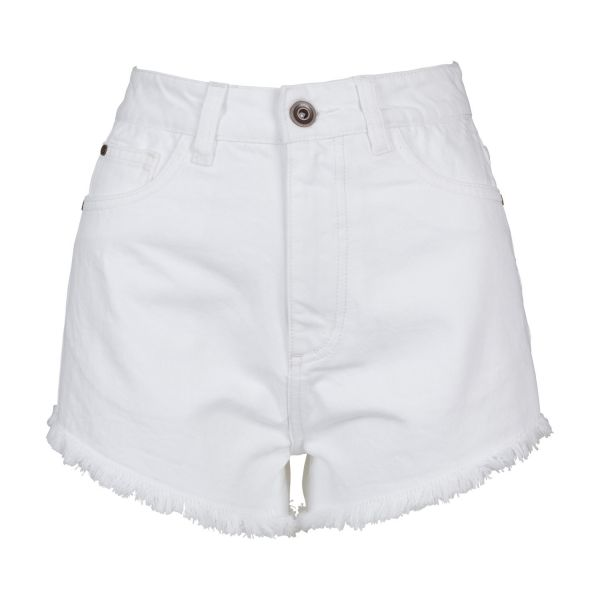 Urban Classics Ladies - Denim Hotpants blue bleached