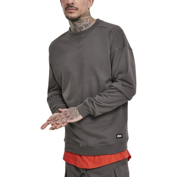 Urban Classics - Zip Away Oversized Terry Crewneck Pullover