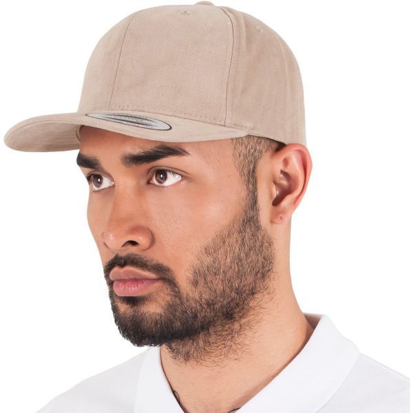 Flexfit Brushed Cotton Twill Mid-Profile Cap - khaki