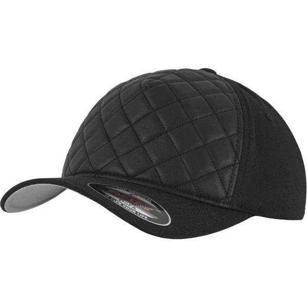 Flexfit Diamond Quilted Stretchable Cap - schwarz
