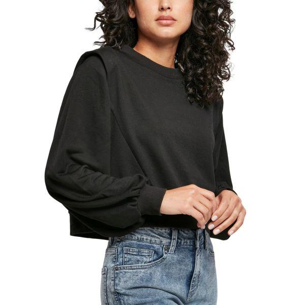 Urban Classics Ladies - Padded Shoulder Pullover