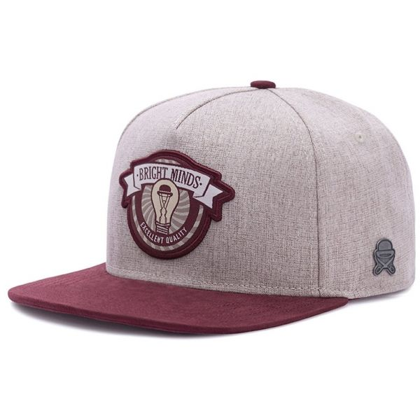Cayler & Sons Snapback Cap - Bright Minds sand / maroon