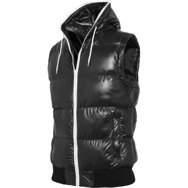 Urban Classics - HOODED BUBBLE Gilet noir - L