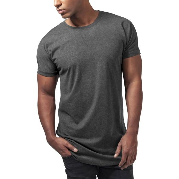 Urban Classics - SHAPED Long Turnup Tee gris