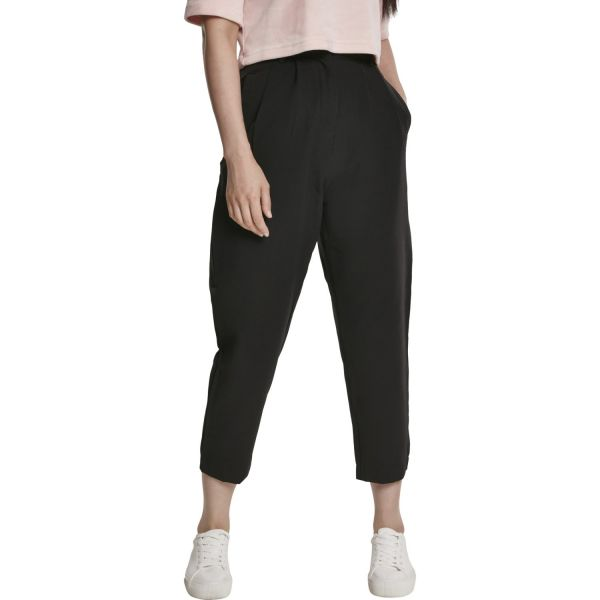 Urban Classics Ladies - High Waist Cropped Hose schwarz
