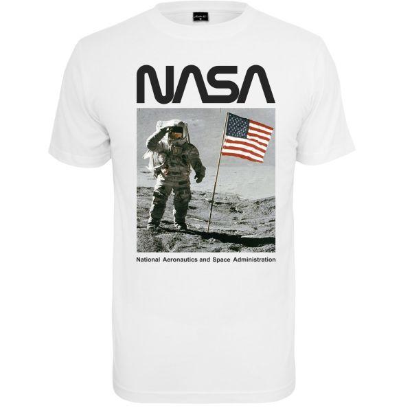 Mister Tee Shirt - NASA Moon Man weiß