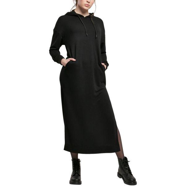 Urban Classics Ladies - MODAL Hoody Long Kleid schwarz