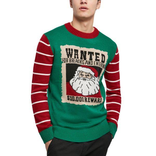 Urban Classics - WANTED Christmas Sweater grün