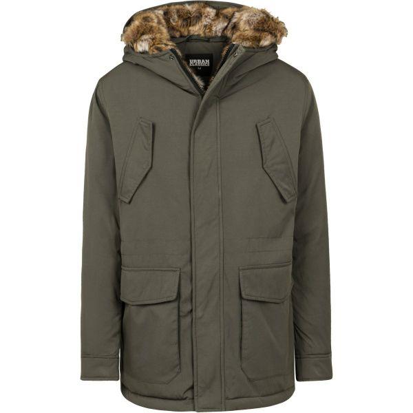 Urban Classics - Hooded Kunstpelz Winterjacke