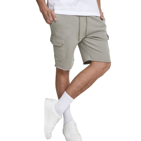 Urban Classics - Open Edge Terry Cargo Shorts olive