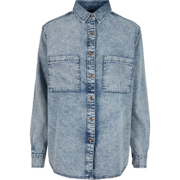 Urban Classics Ladies - DENIM Oversized Shirt Hemd