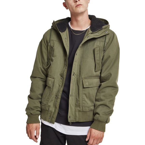 Urban Classics - Hooded Cotton Sherpa Winterjacke