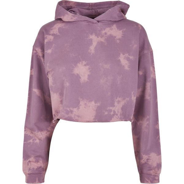 Urban Classics Ladies - Oversized Cropped Hoody bleached