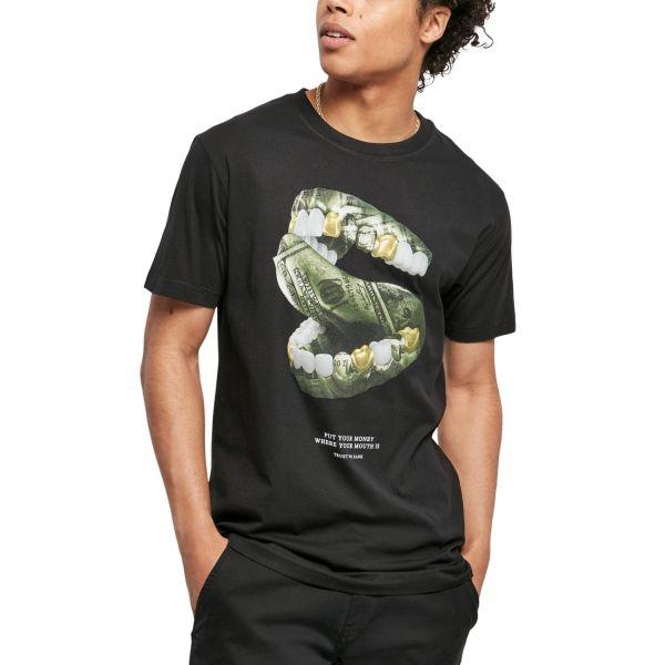 Mister Tee Grafik Shirt - MONEY MOUTH schwarz