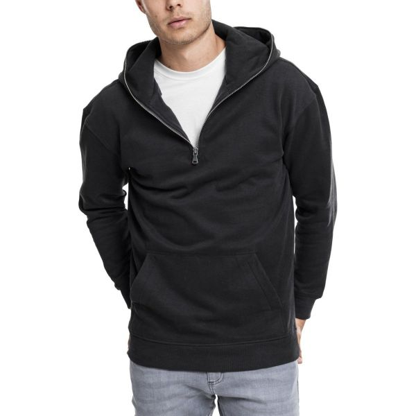 Urban Classics - TROYER Fleece Hoody schwarz