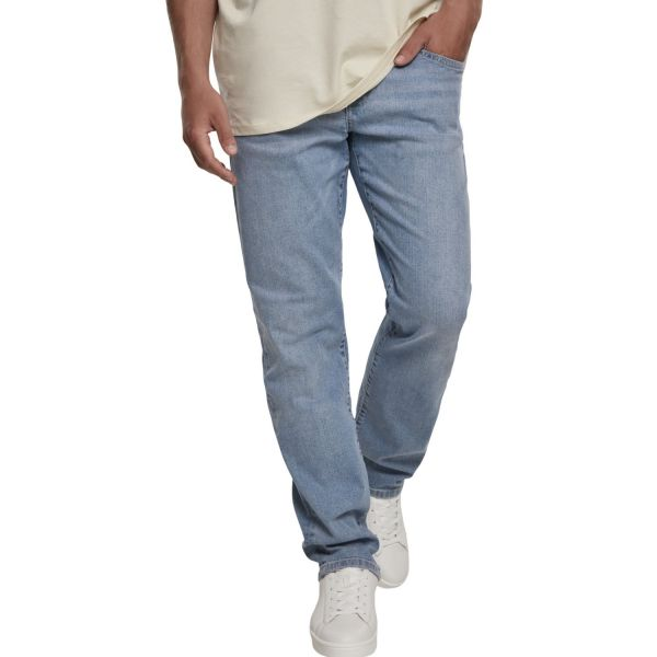 Urban Classics - Relaxed Fit Denim Jeans mid ingigo