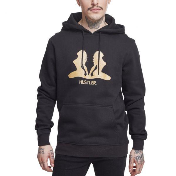 Merchcode Fleece Hoody - HUSTLER Gold black