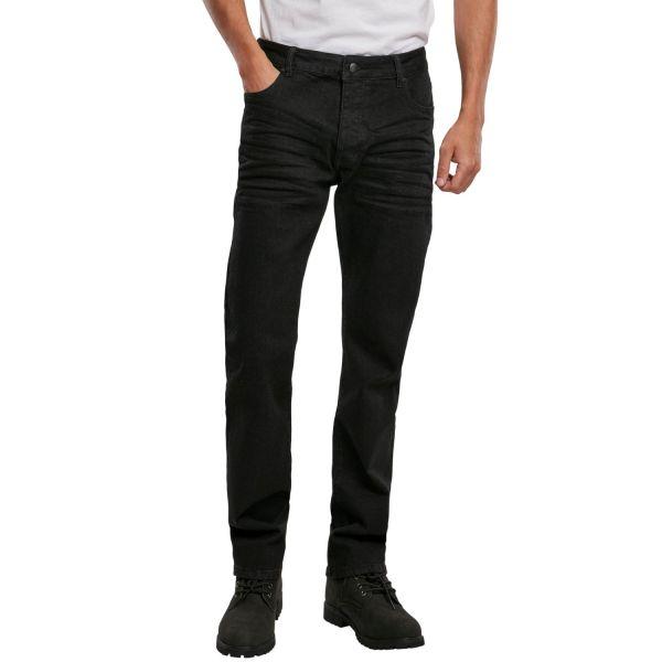 Brandit MASON Straight-Fit Stretch Denim Jeans black