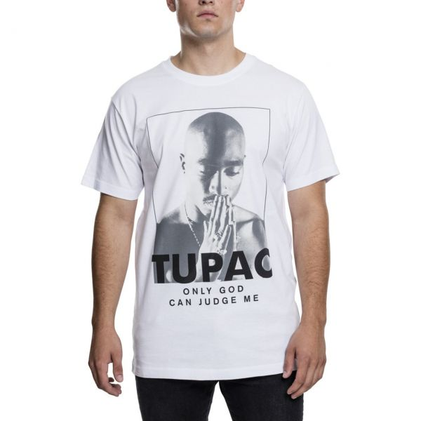 Mister Tee Shirt - 2PAC Only God Can Judge Me blanc
