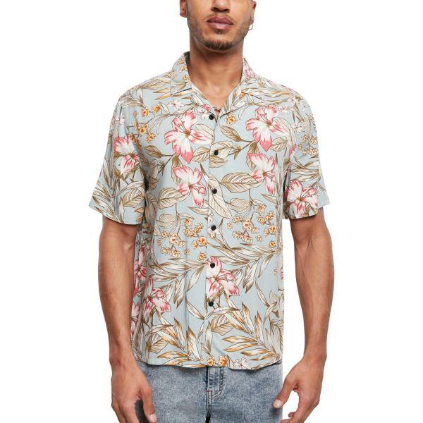 Urban Classics - Viscose Resort Shirt Hemd hibiscus