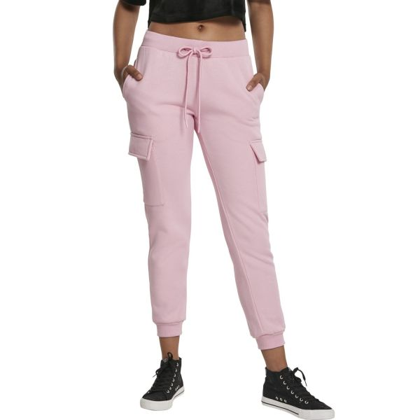 Urban Classics Ladies - CARGO Sweatpants girly pink