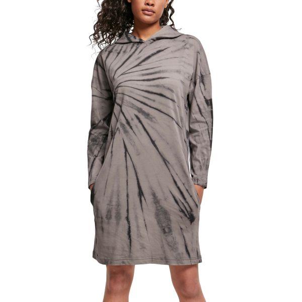 Urban Classics Ladies - Oversized Tie Dye Hoody Kleid