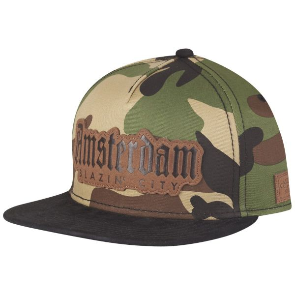 Cayler & Sons Snapback Cap - AMSTERDAM wood camo