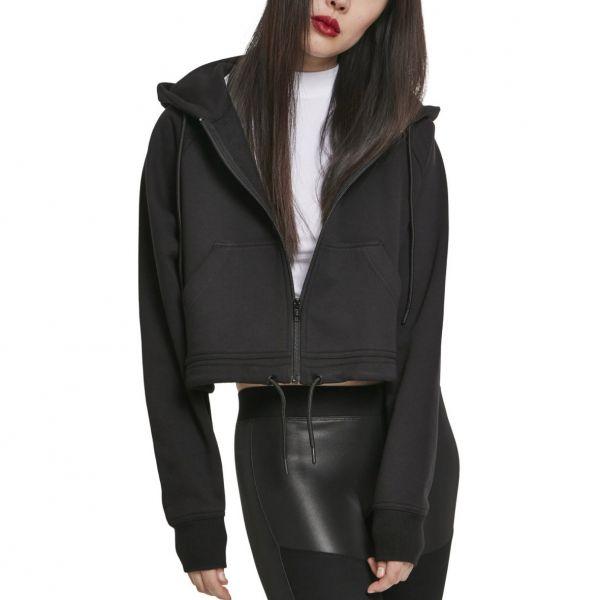 Urban Classics Ladies - Oversized Short Raglan Zip Hoody