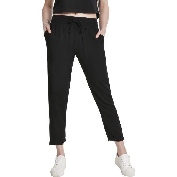Urban Classics Ladies - Elastic Waist Pants black