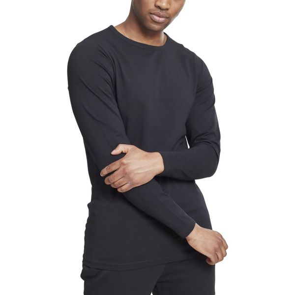 Urban Classics - FITTED STRETCH Manches Longues noir