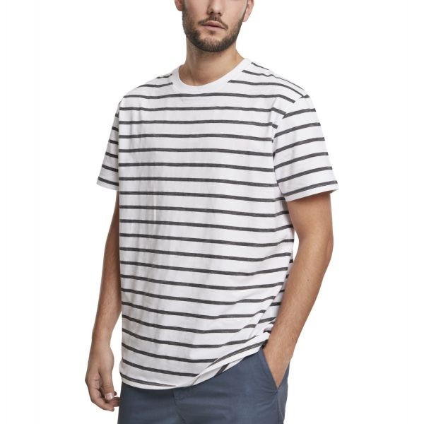 Urban Classics - Basic Stripe Oversized Shirt weiß