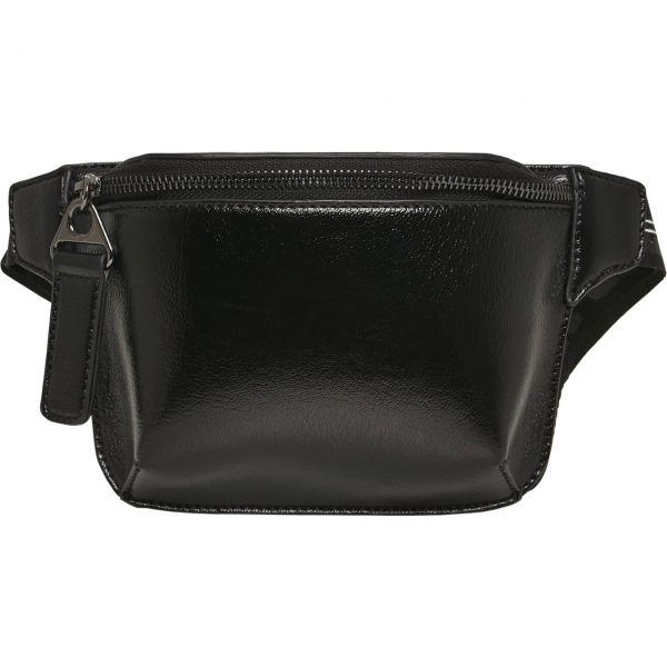 Urban Classics - Kunstleder Hipbag Hüfttasche schwarz