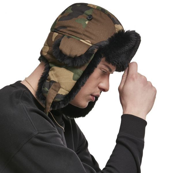 Urban Classics - TRAPPER Dog Ear Wintermütze wood camo