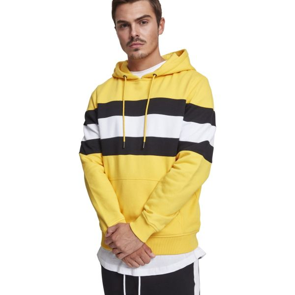 Urban Classics - Chest Striped Hoody yellow