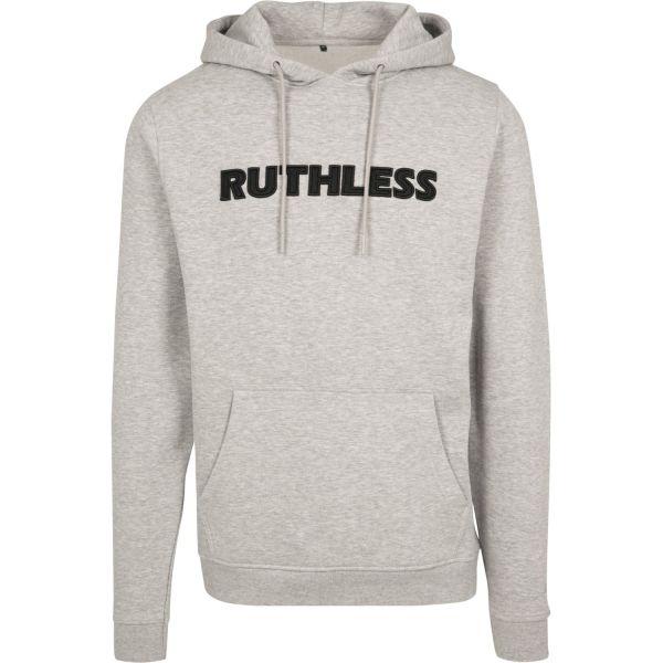Merchcode Fleece Hoody - Ruthless Embroidery grey