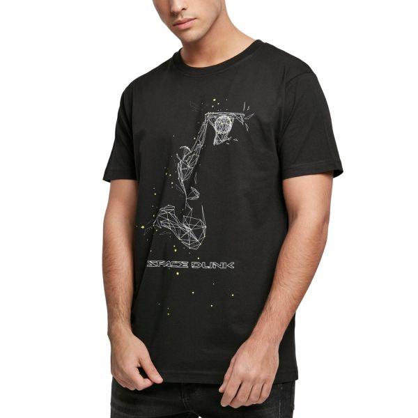 Mister Tee Grafik Shirt - SPACE DUNK schwarz