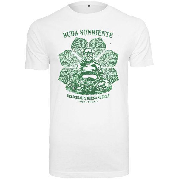 Merchcode Shirt - Buda Sonriente weiß
