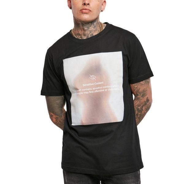 Mister Tee Grafik Shirt - SENSITIVE CONTENT schwarz