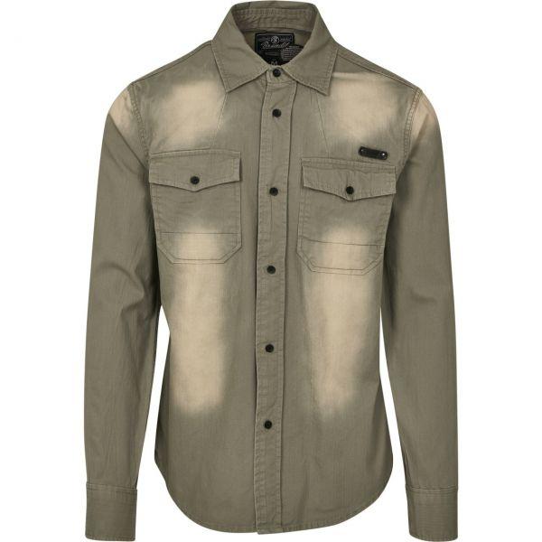 Brandit - HARDEE Bleached Vintage Denim Hemd
