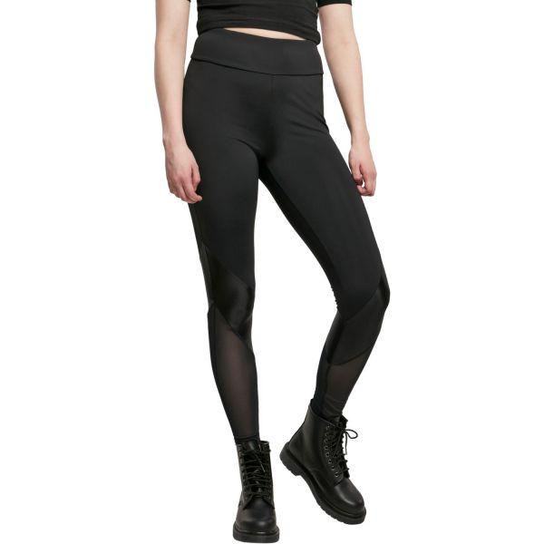 Urban Classics Ladies - Highwaist TECH Leggings schwarz