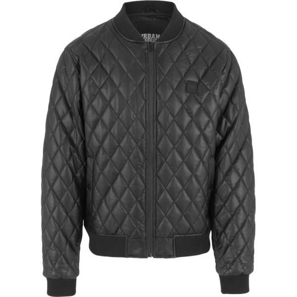 Urban Classics - DIAMOND Kunstleder Stepp Jacket