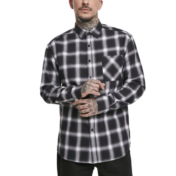 Urban Classics - Oversized Checked FLANELL Holzfäller Hemd