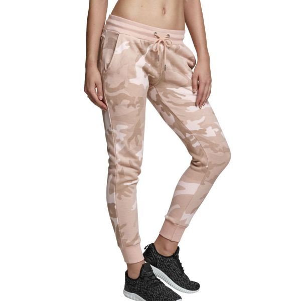 Urban Classics Ladies - Camo Terry Stoff Hose Sweatpants
