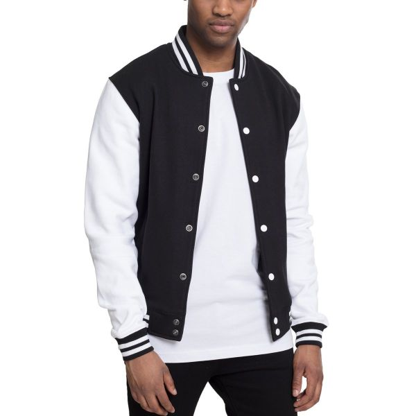 Urban Classics - College Baseball Freizeit Sweat Jacke