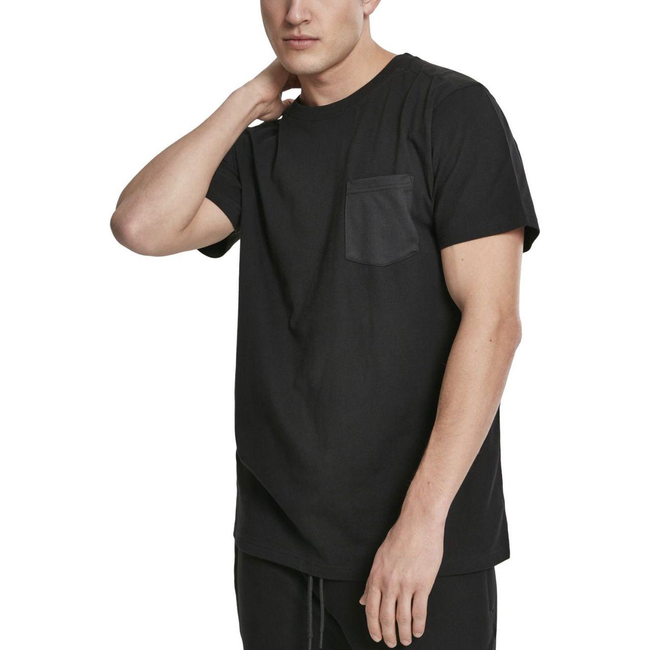 Urban Classics - Modal Mix Pocket Shirt schwarz