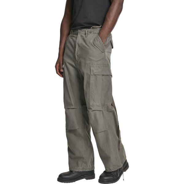 Brandit M65 Vintage Cargo Army Trousers snow camo