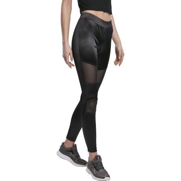 Urban Classics Ladies - Shiny TECH MESH Leggings schwarz