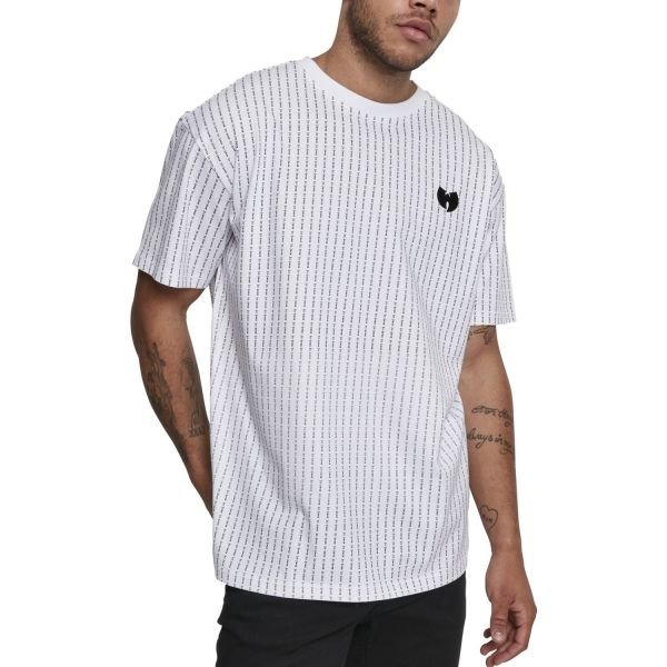 Wu-Wear Hip Hop Shirt - PINSTRIPE white