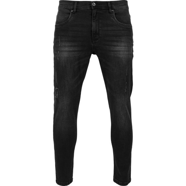 Urban Classics - Skinny Ripped Stretch Jeans black washed